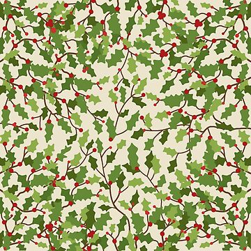 Christmas berries pattern by ValentinaHramov