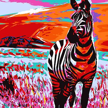 Pop Art of Zebra by NoraMohammed