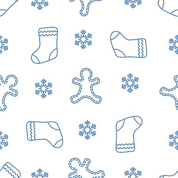 Christmas and New Year 2019 seamless pattern. by aquamarine-p