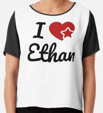I love Ethan, I heart Ethan Soul-Mate Chiffon Top
