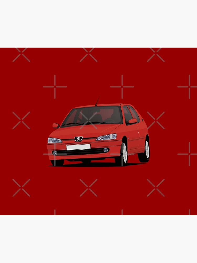 White//Red Car Mats in Black to fit Peugeot 309 309 GTI Logos