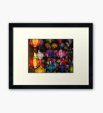 Kaleidoscope of Lanterns in Hoi Ann Vietnam Framed Print
