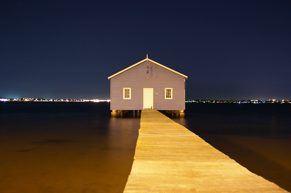 blue boathouse by misspetepie