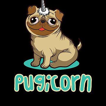 'Pug Lovers' Cute Pugicorn Dog Gift by leyogi