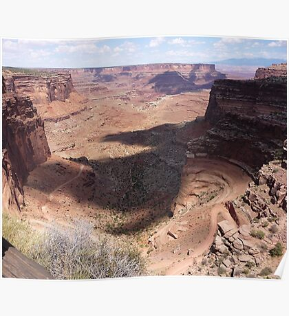 Overlooking the Shafer Trail, Canyonlands National Park Poster