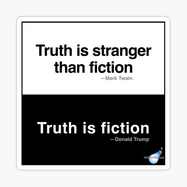 Truth/Fiction Sticker