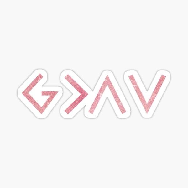 Christian Quote - God is greater than the highs and the lows Sticker