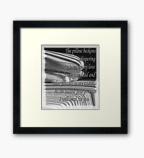 Pillow Talk :Triple Collaboration Framed Print