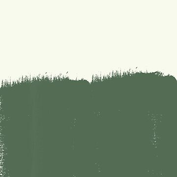 Sage green minimalism - Mountain field by hellcom
