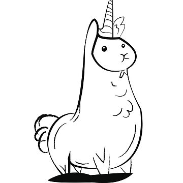Lama x Unicorn by xeron32