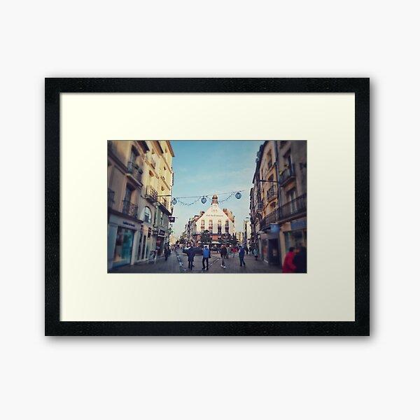 Cafe Des Tribunau in Dieppe Framed Art Print