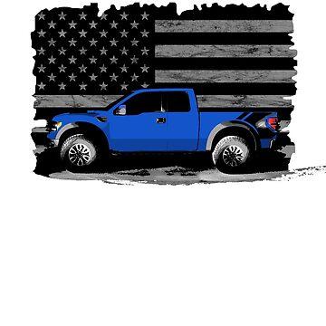 American Rapture 4x4 Pickup Truck in Blue by dwarmuth