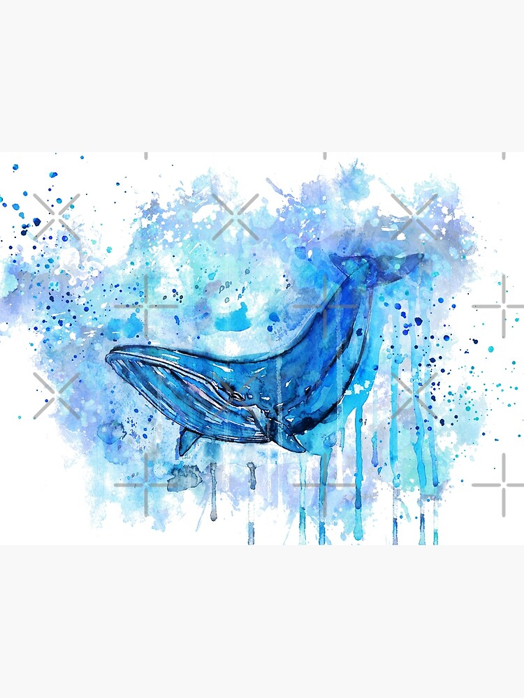 Humpback whale, humpback, whale, watercolor humpback, watercolor whale by Rosaliartbook