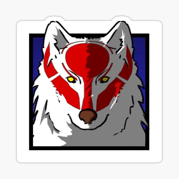Icône Loup Sticker