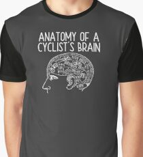 Cycling Funny Design - Anatomy Of A Cyclists Brain Graphic T-Shirt