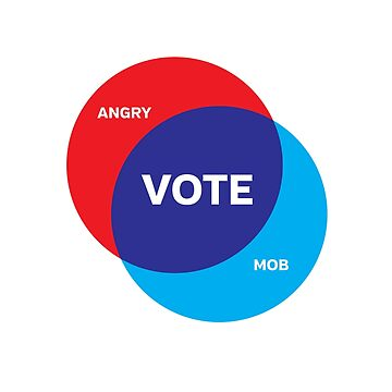Angry Mob = Vote Venn Diagram by directdesign