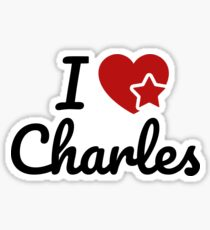 I love Charles Artwork Sticker