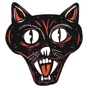 Vintage Halloween Cat by MOREDANKMEMES