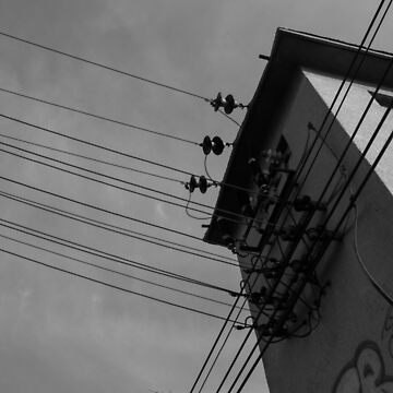 Power lines in the sky by TheMaker