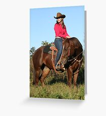 Catalog Cowgirl Greeting Card