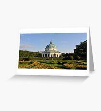Baroque Flower Garden, Kromeriz, Czech Republic  Greeting Card