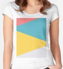 Vier Dreiecke Tailliertes Rundhals-Shirt