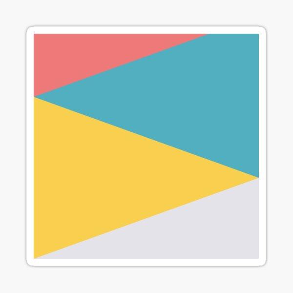 Vier Dreiecke Sticker