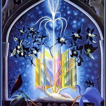 Serenade, a Christmas Fantasy, fine art painting by virginia50