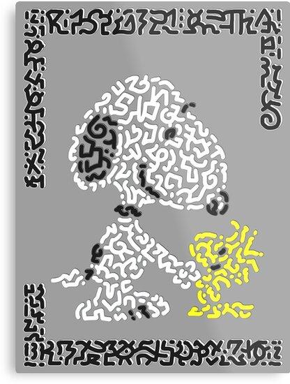 Snoopy & Woodstock by Karotene