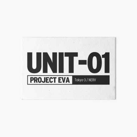 UNIT 01 PROJECT EVA  | Neon Genesis Evangelion Art Board Print