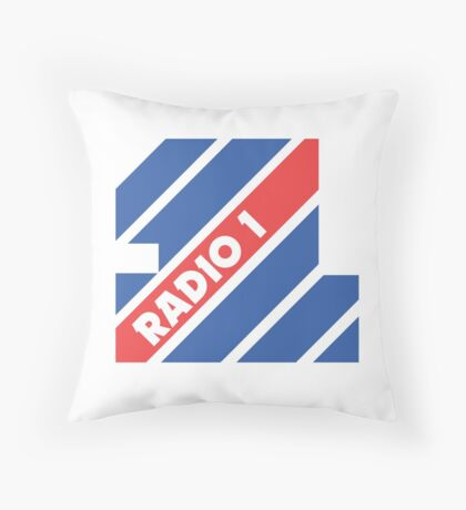 1974 BBC Radio 1 logo without frequency  Throw Pillow