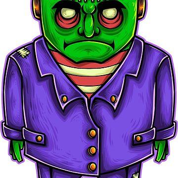Smartly Dressed Frankenstein  by NeonArcade87