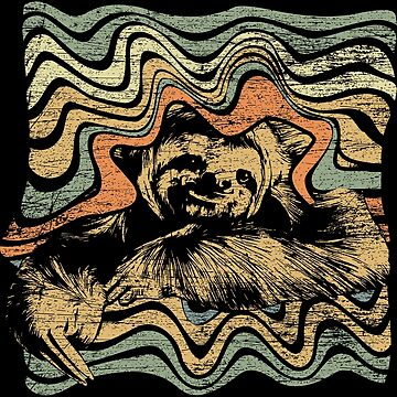 Sloth animals fan by GeschenkIdee