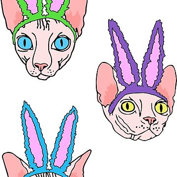 easter sphynx stripes (naked cat) by B0red