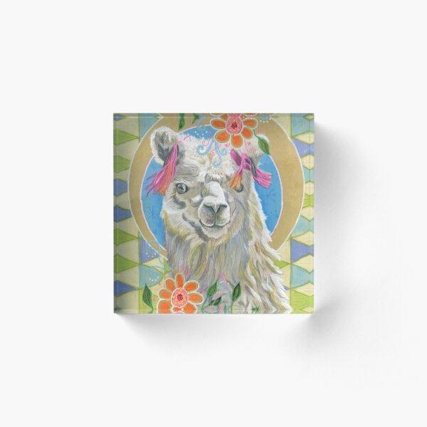 Llama Llove Acrylic Block