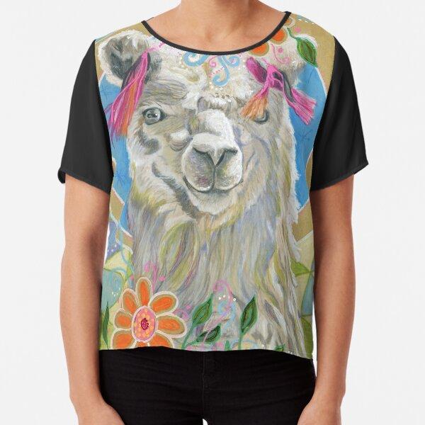 Llama Llove Chiffon Top