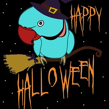 happy halloween - blue indian ringneck doodle by FandomizedRose