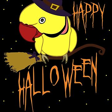 happy halloween - yellow indian ringneck doodle by FandomizedRose