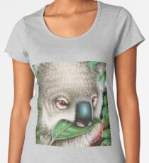 Cute Koala Munching a Leaf Women's Premium T-Shirt