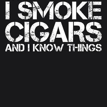 Smoke Cigars Smoker Art - Ideal Clever Class Men Gift by NBRetail