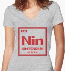 Nintendium Women's Fitted V-Neck T-Shirt