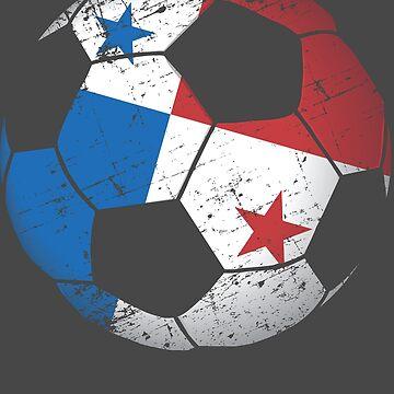 Panama Soccer Ball Flag Jersey Art - Panama Football Gift by NBRetail