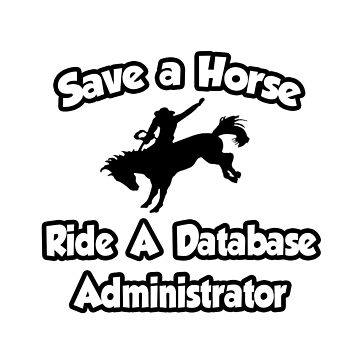 Save A Horse, Ride A Database Administrator - Fun Gifts for Sexy DBAs by TKUP22