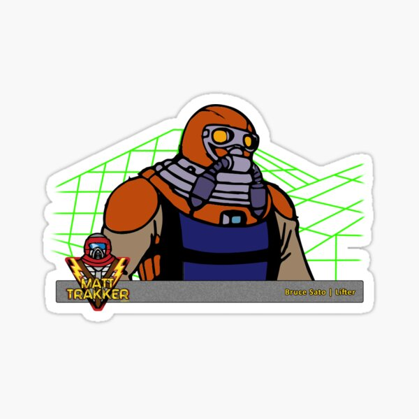 M.A.S.K. Bruce Sato with Lifter mask Sticker