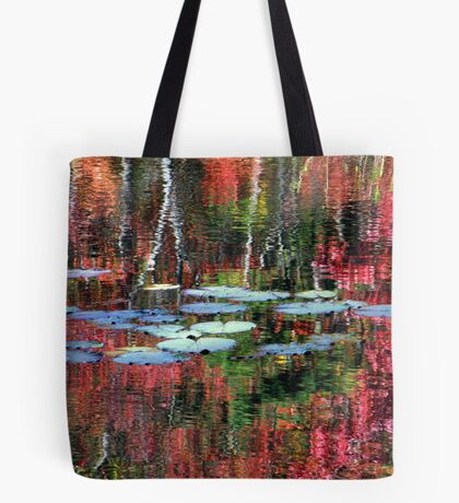 Lily Pads On Autumn Waters Tote Bag
