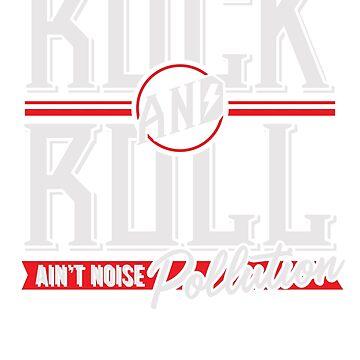 Rock'n'Roll ist keine Lärmbelästigung (weiß und rot) von stratman7