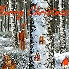 Tree Trunk Home Christmas Card by EuniceWilkie