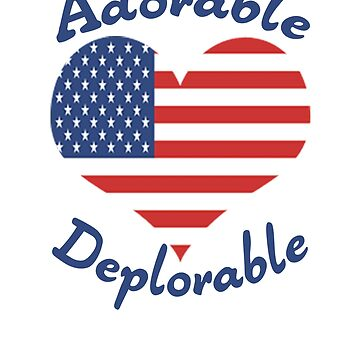Pro Trump T-Shirt Adorable Deplorable 2020 Election Vote by TopTeeShop