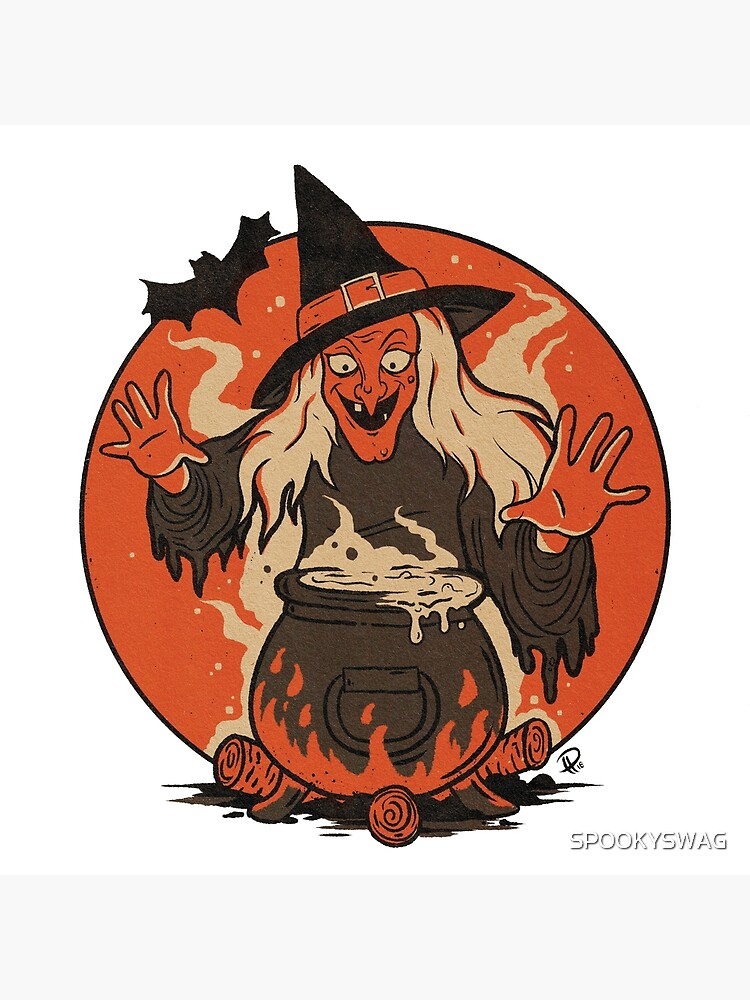 Cauldron STICKERS Decoration Fun Kids Adults Halloween Party Spooky Witch Spell