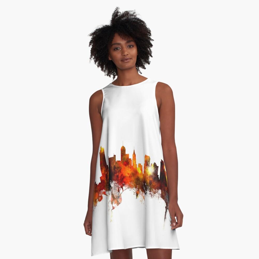 Memphis Tennessee Skyline A-Line Dress